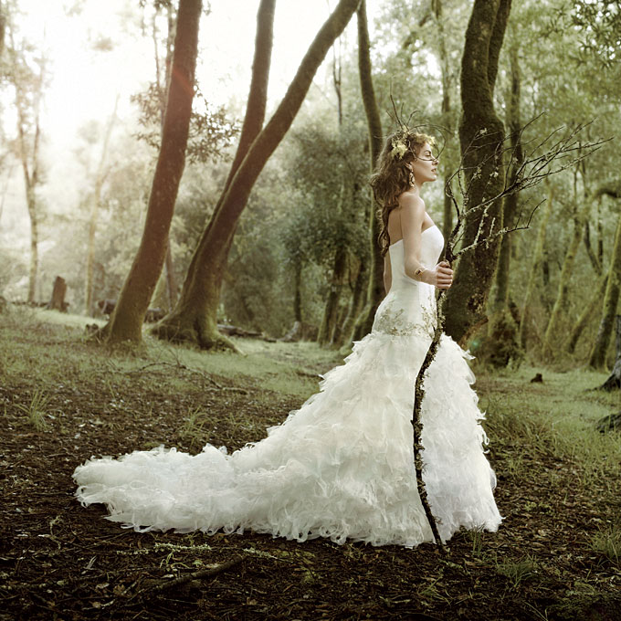 Sweet sharings enchanted and romantic bridal fashion for Romantic ethereal wedding dresses