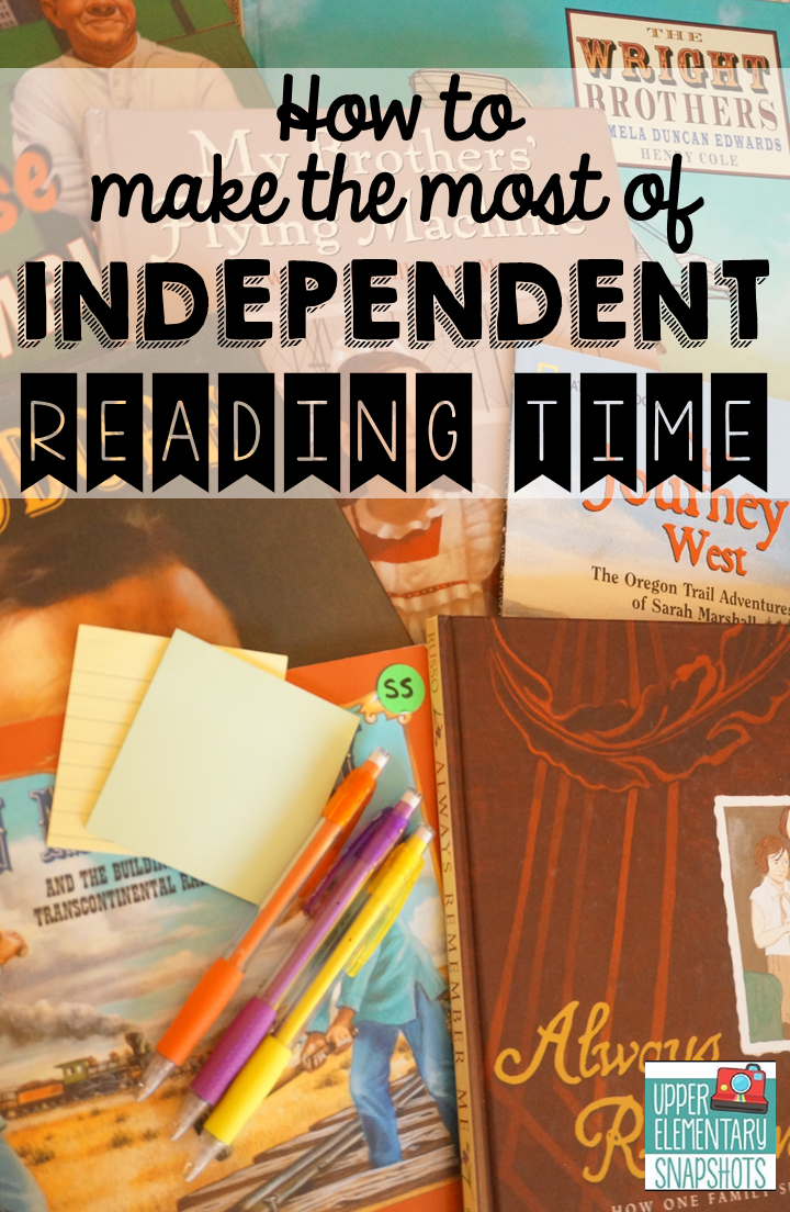 Check out these Independent reading activities that will make student reading time more meaningful.  Lots of independent reading ideas, anchor charts, and resources.  Grab the free graphic organizer while you are there!