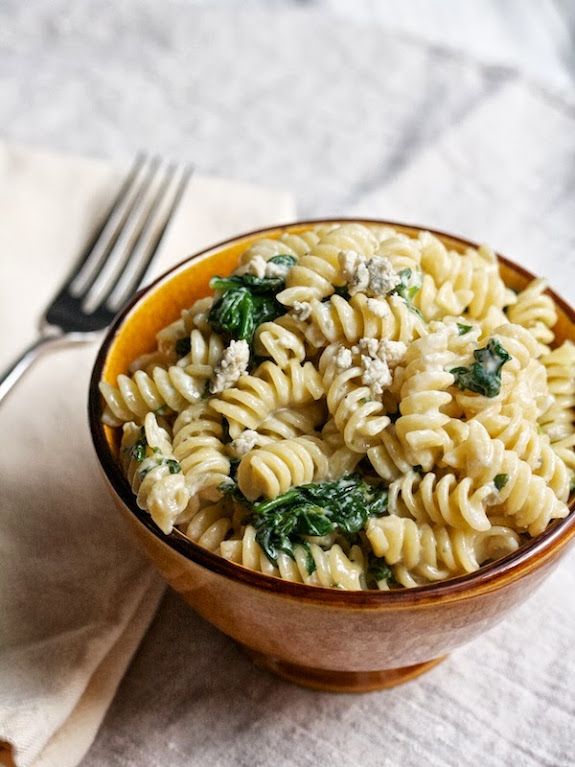A CUP OF JO: Rotini with Blue Cheese & Spinach