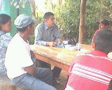 Evangelisando en La Ciudad de Apaneca