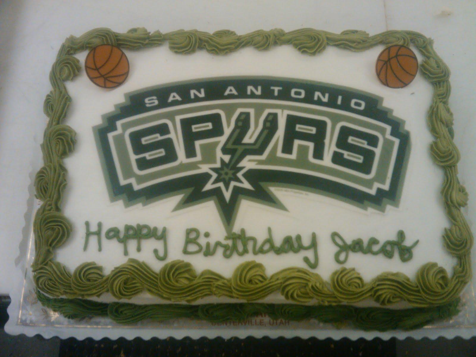 Vanessas Cake Designs Spurs Basketball Cake