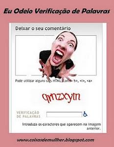 Participe da campanha contra letras de verificação nos blogs