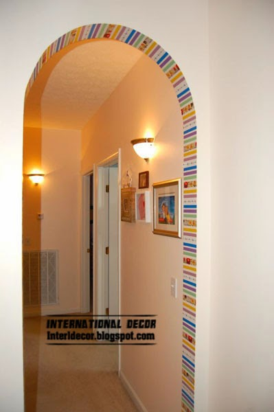 arch door,Washi Tape crafts, ideas,projects for interior design