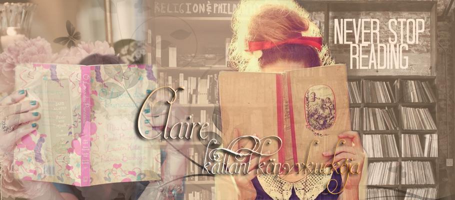 Claire kattant könyvkuckója