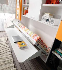 Cama abatible horizontal con mesa abatible y - Cama con mesa incorporada ...