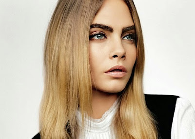 Cara Delevingne eyebrows big bushy