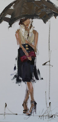 kathryn morris trotter, www.kathryntrotterart.com, fashion illustrations, fashion ladies with umbrellas, kathryn trotter umbrella ladies, fashion sketches,