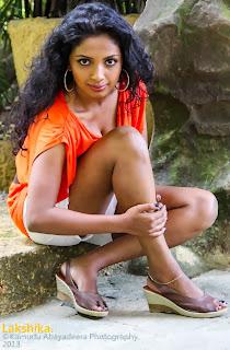 Lakshika Jayawardhana white shorts