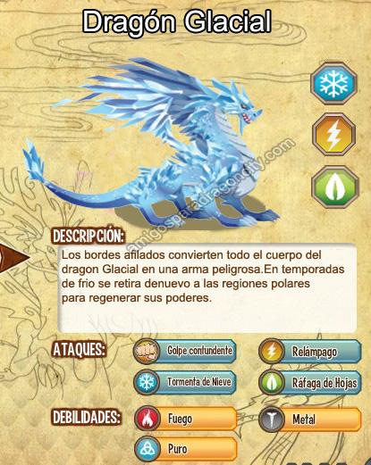 imagen del dragon glacial y sus caracteristias