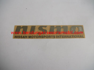 Emblem Alumunium 3M Besar Chrome Nismo 2