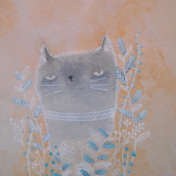 ilustración de eva carot, gatito