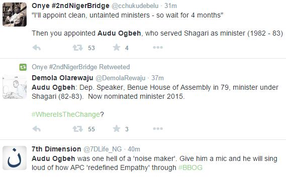 Nigeria ministerial list  1v,ministerial list Nigeria 1v