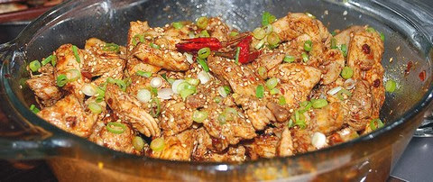 Spicy Chicken Breast with Sesame and Szechuan Peppers