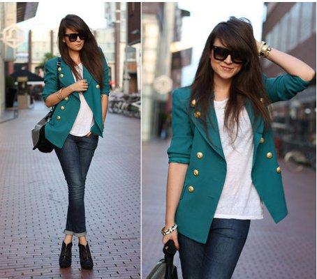 OUTFIT DEL Du00cdA Look con blazer vintage