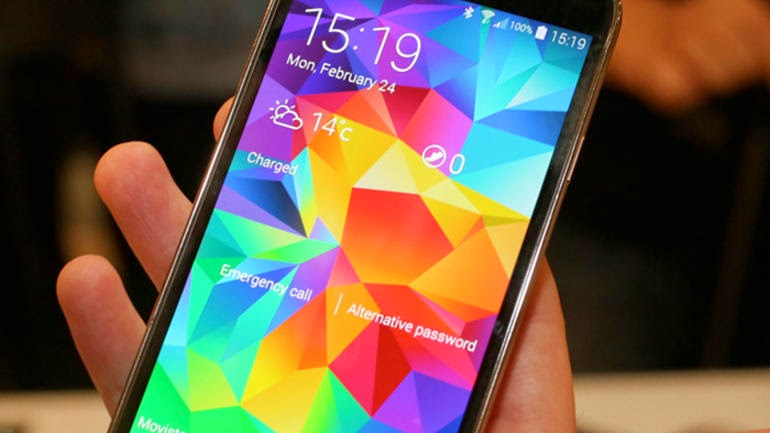 layar Samsung Galaxy S5 dan Spesifikasi