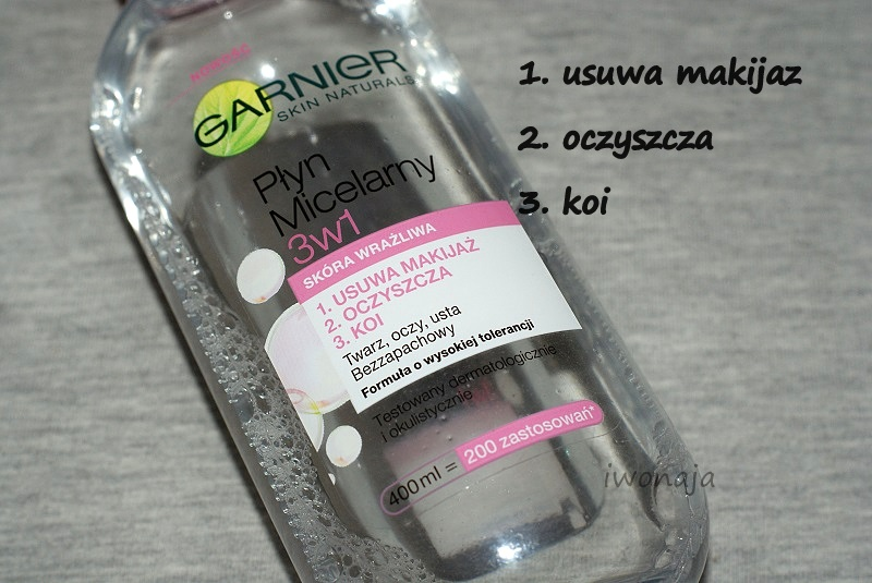 Płyn micelarny 3w1 / Garnier.