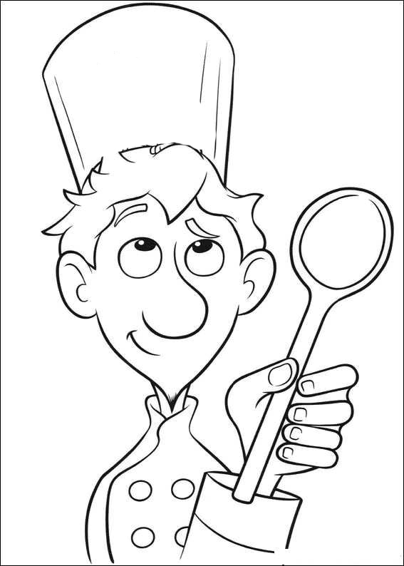 master chef coloring pages - photo#12