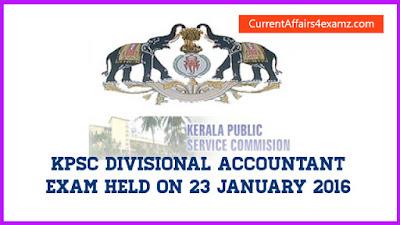 Kerala PSC Exam 2016