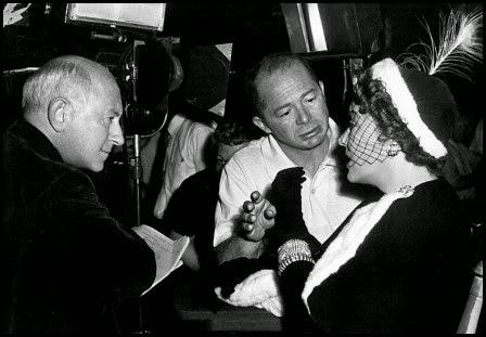 Cecil B. DeMille, Billy Wilder y Gloria Swanson en 'El crepúsculo de los dioses' (Billy Wilder, 1950)