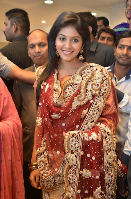 Anjali At a store launch in saree