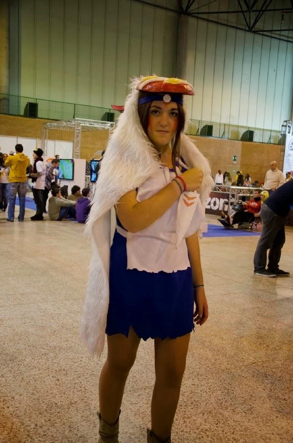 Cosplay de La Princesa Mononoke en Mangafest 2013
