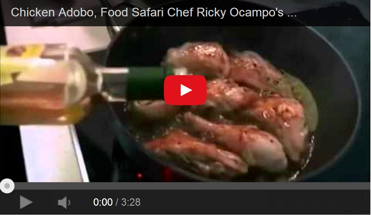 SBS Food Safari Chef Ricky Ocampo's Chiken Adobo