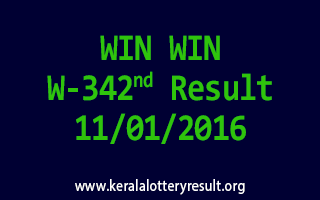WIN WIN W 342 Lottery Result 11-01-2016