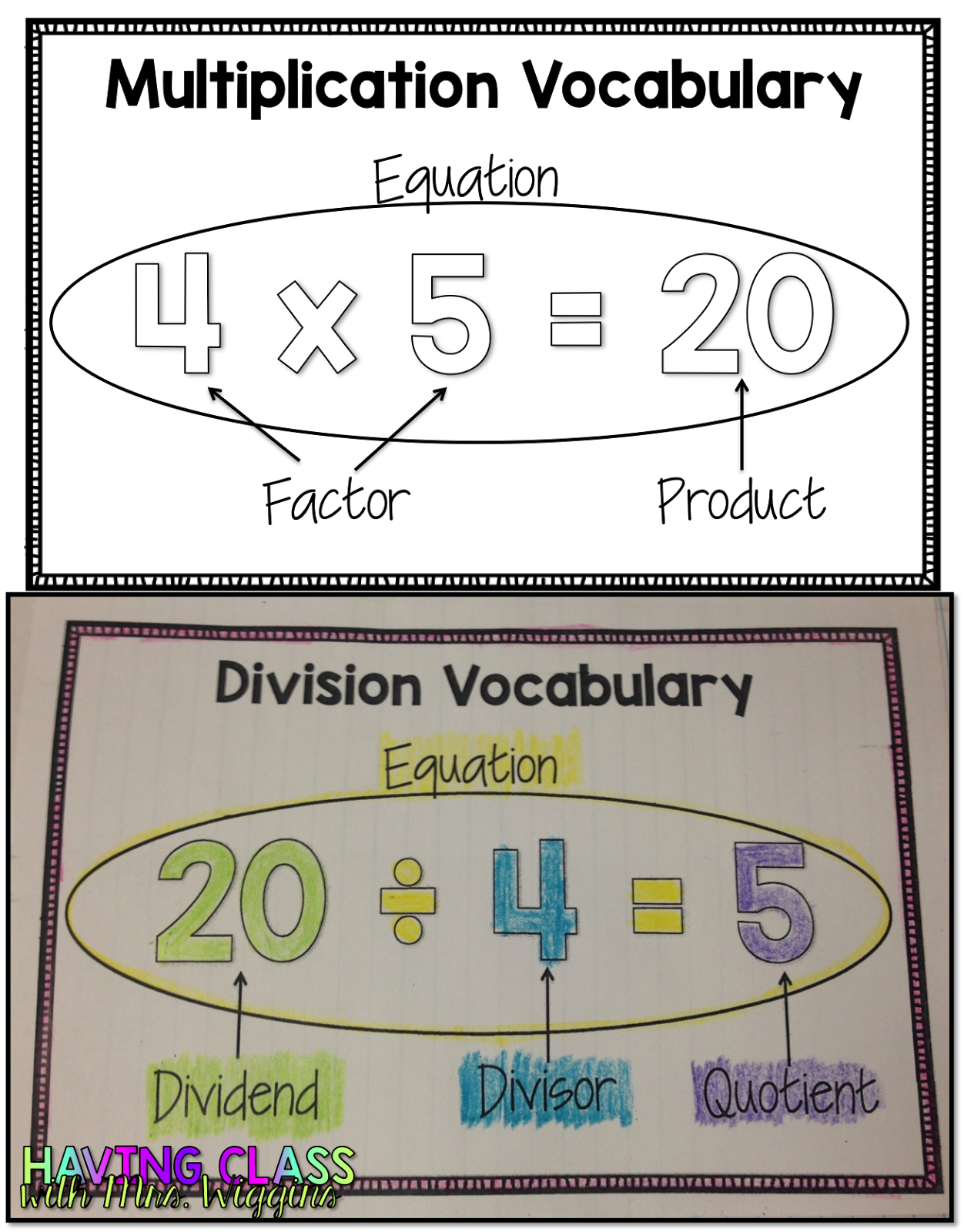 Worksheet How To Teach Multiplication To 3rd Grade multiplication interactive notebooks humpday highlight after introducing and practicing the vocabulary students will complete guided sort below