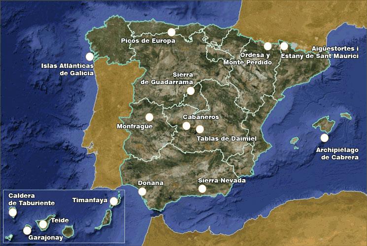 7 DE LOS 15 PARQUES NACIONALES DE ESPAÑA