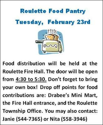 2-23 Roulette Food Pantry