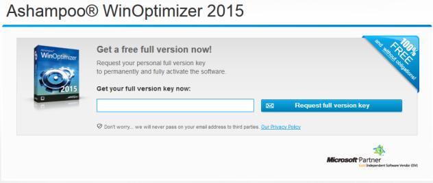 Ashampoo WinOptimizer 2015 Full Serial Keys