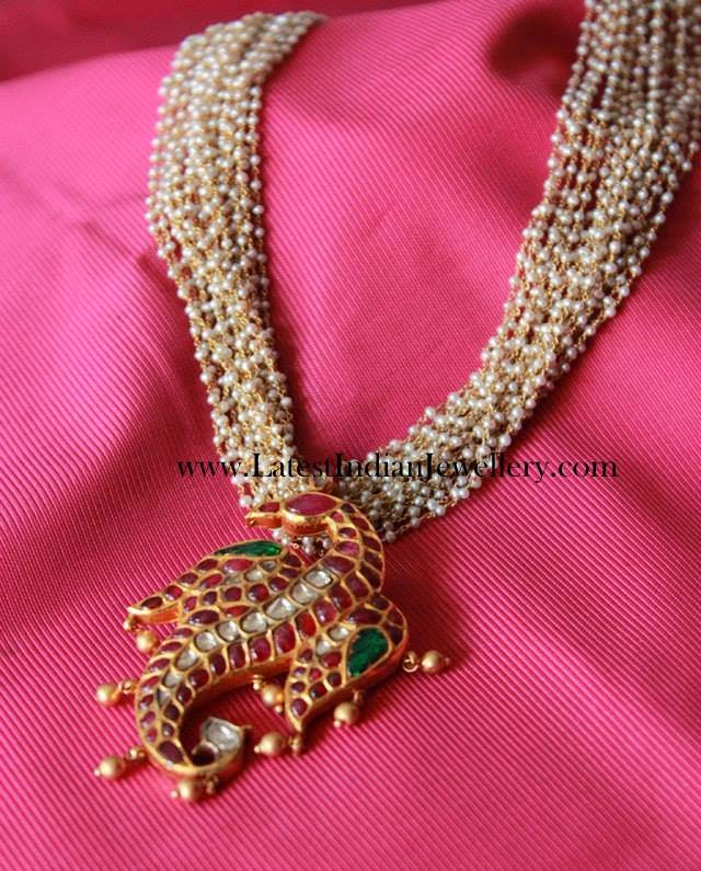 Basra Pearls Gold Ruby Pendant