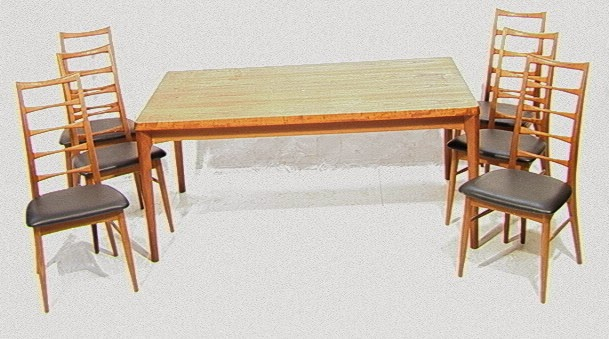 Four Koefoed Dining Chairs And A Danish Teak Refectory Table Sold For 1265 Originally It Was 1999 At Dane Decor In 1977