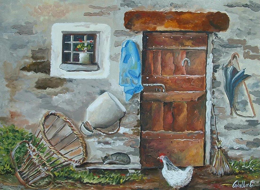 Dipinti su legno e su pietra dipinto ad olio su tela for Dipinti ad olio fiori