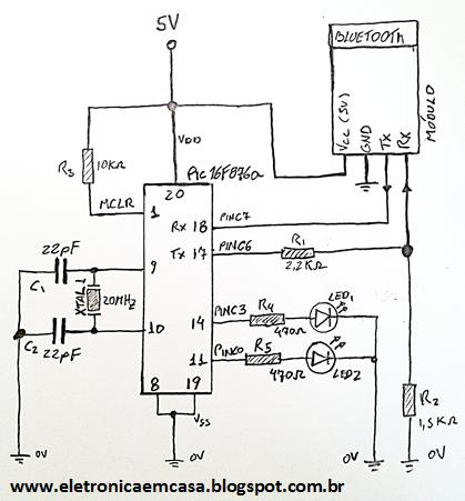 Como cnectar o Módulo Bluetooth HC-06 com o PIC e Arduino