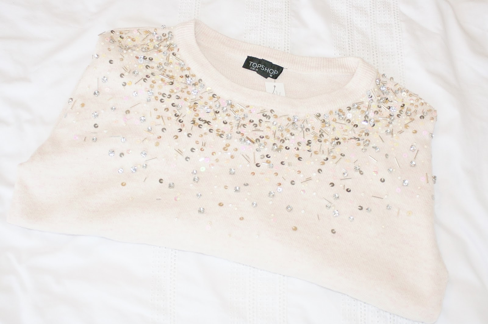 Katherine Penney Chic fashion style haul topshop shopping sale pretty jumper sequins