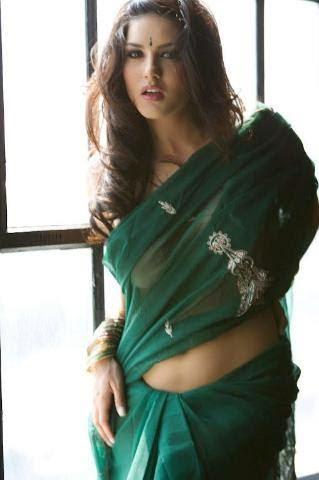 sunny leone hot image in saree