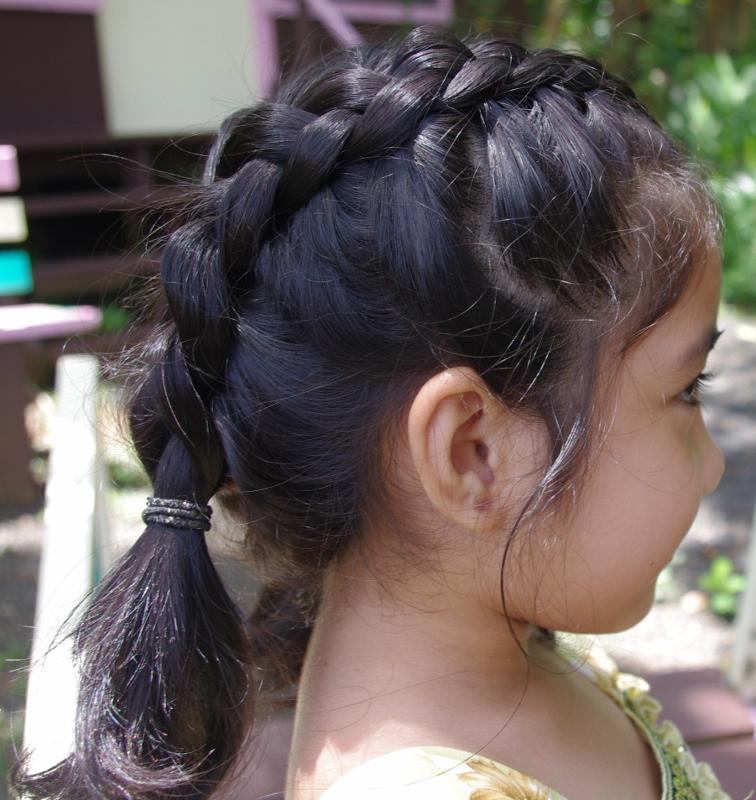 Braids Hairstyles For Super Long Hair Micronesian Girl Cute