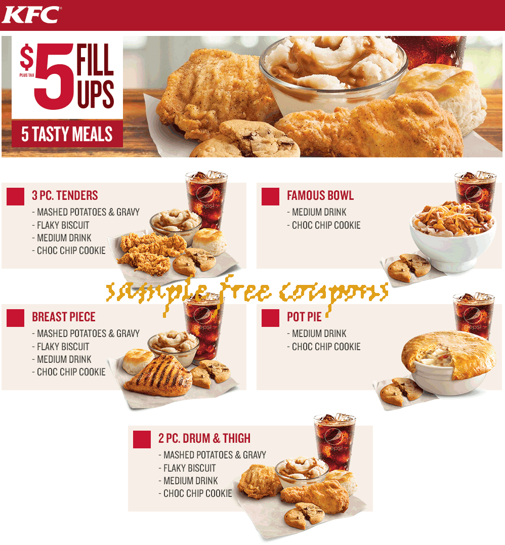 Kentucky fried kitchen coupons