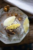 Feuilles d'automne ou gâteaux moelleux au chocolat blanc