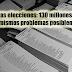 Nuevas elecciones: 130 millones más y los mismos problemas posiblemente