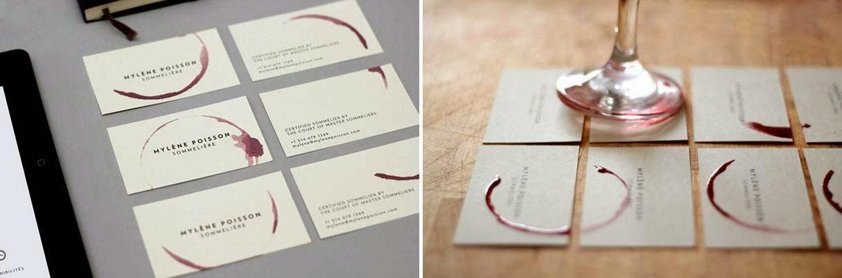 Tarjetas de presentación con diseños creativos