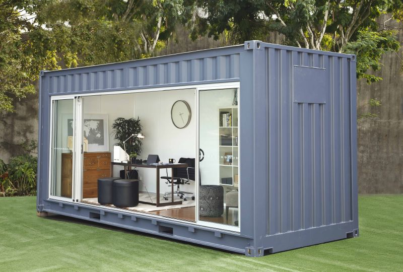 Casas contenedores habitaciones exteriores en m dulos for Modulos para oficina precios