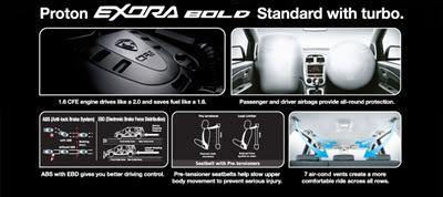 Proton Exora Bold Standard - Kini Dengan Kuasa Turbo! - Spesifikasi Umum