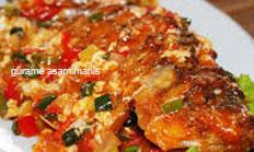 resep masakan indonesia gurame asam manis spesial sedap, gurih, nikmat