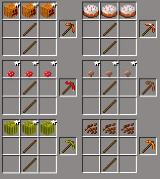 More Pickaxes Mod craftings
