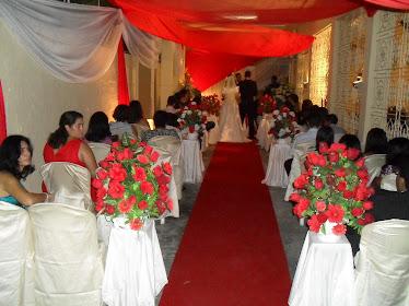 Decoração de casamento em residencia