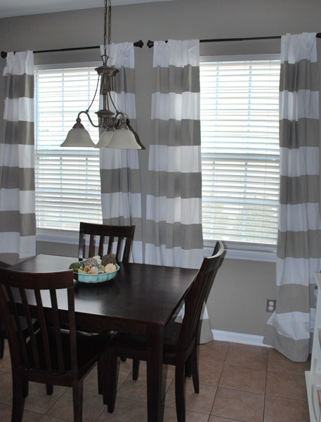 Drop cloth drapes gone bad and the quest for stripes meadow lake
