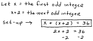 sum of consecutive integers odd calculator