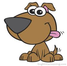 Wallpaper doggy cartoon